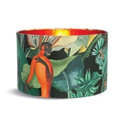 Small drum lampshade with metallic copper lining H22 x L35 x W35cm