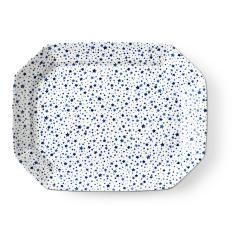 Burleigh - Midnight Sky Large rectangular platter, 33 x 25cm, Light Indigo