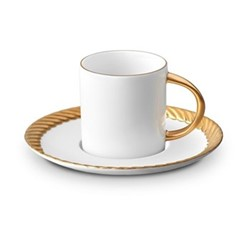 Corde Espresso cup and saucer, 11cl, gold