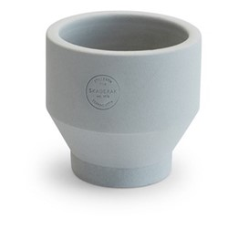 Edge Indoor pot, Dia13 x H13cm, light grey