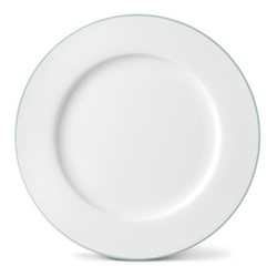 Rainbow Collection Dinner plate, 27cm, aqua rim
