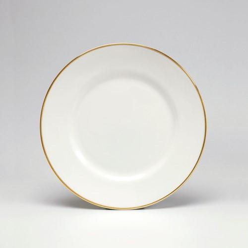 Dessert plate, 21cm, gold/white