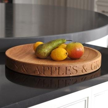 Bespoke engraved large fruit or salad bowl