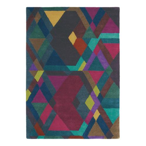 Mosaic Rug, 170 x 240cm, Deep Purple