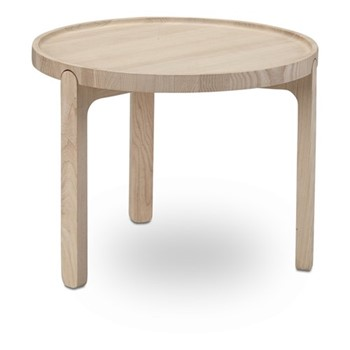 Indskud Tray table, Dia48 x H37cm, oak