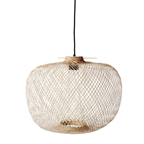 Rodi Pendant lamp, H30 x D42cm, Beige/ Natural