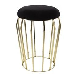 Velvet stool, H56 x D40cm, black