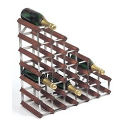 Under Stair 27 bottle wine rack, H62 x W62 x D23cm, dark/galvanised steel