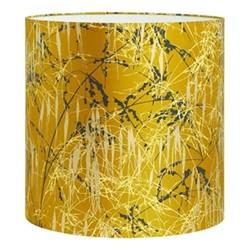Three Grasses Lampshade, 36 x 36cm, turmeric/storm