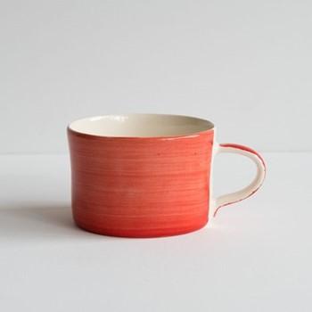 Plain Wash Set of 6 mugs, H7 x W10.5cm, paprika