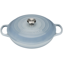 Signature Cast Iron Shallow casserole, 26cm - 2 litre, Coastal Blue