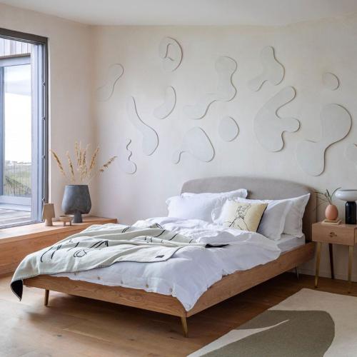 Crawford Double bed, H93 x  W140.4 x D203cm, Light Oak