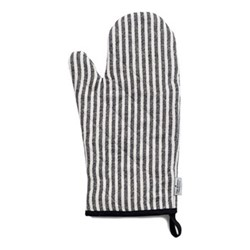 Harbour Stripe Oven glove, 33 x 17cm, black