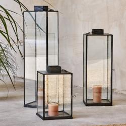 Sia Large lantern, 76.5 x 20 x 20cm, Antique Black