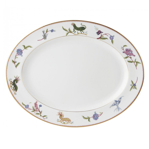 Mythical Creatures Oval platter, L39 x W30cm