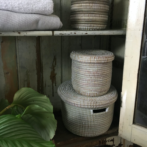 African Storage basket, 25 x 40cm, Natural
