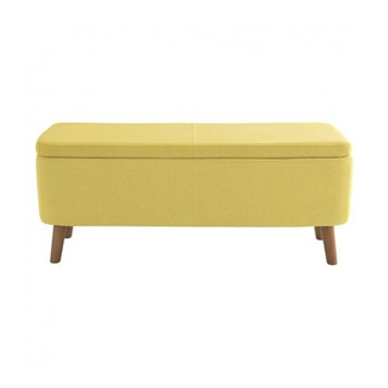 Jacobs Upholstered storage bench, W110 x H44 x D40cm, saffron