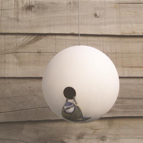 Birdball Wall mounted birdhouse, Dia18cm, White