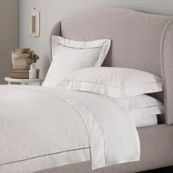 Santorini - 200 Thread Count Cotton Double duvet cover, W200 x L200cm, White