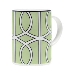 Loop Mug, 10.2 x 7.6cm, apple green/white