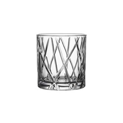 City Set of 4 whiskey glasses, 34cl - H9.1 x W8.6cm, glass