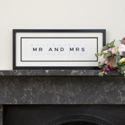 MR AND MRS Medium frame, 51 x 20cm
