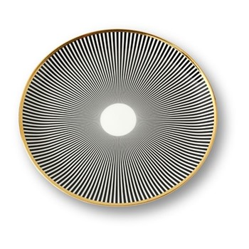 Lustre Dinner plate, D28.5cm, black stripe
