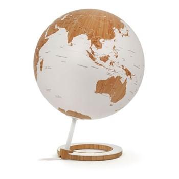 Globe, L33 x W25cm, bamboo/white