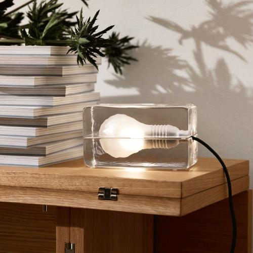 Block Mini lamp, L12 × H8 × W7cm, Clear
