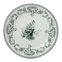 Les Depareillées - Oiseau Set of 6 dessert plates, 23cm, green
