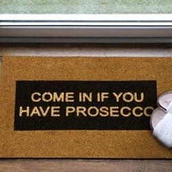 Come In Doormat , L60 x W40 x D1.5cm, natural/black