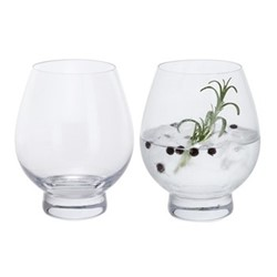 Gin Connoissuer Pair of gin tumbler glasses, H12.5cm - 0.5 litre, clear