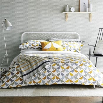 Lintu King size duvet cover, L220 x W230cm, dandelion and pebble