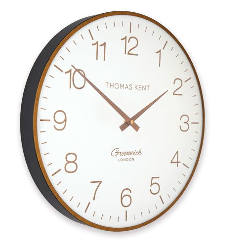 Greenwich club Wall clock, Dia53cm, White//Black/Brass