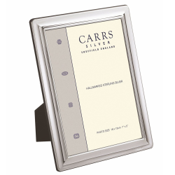 """SW Series - Plain Photograph frame, 7 x 5"""", Sterling Silver With Mahogany Finish Back"""