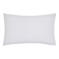 Mya Pair of standard pillowcases, 74 x 48cm, sky blue