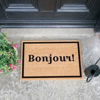 Bonjour Doormat , L60 x W40 x H1.5cm