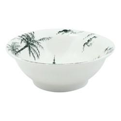 Les Depareillées - Vues d'Orient Pair of cereal bowls, 18cm - 35cl, green