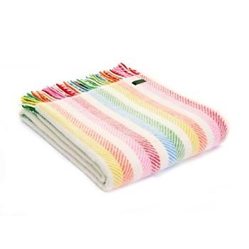 Stripes Throw, 150 x 183cm, rainbow stripe