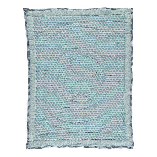 Elephant Quilt, king/super king, Turquoise
