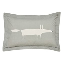 Mr Fox Oxford pillowcase, L48 x W74cm, silver