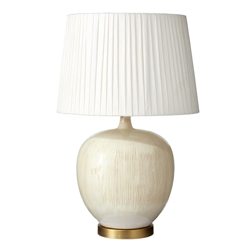 Pyaaz Table lamp - base only, H34 x D28cm, cream ceramic