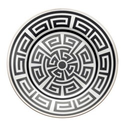 Labirinto Plate, 22cm, nero