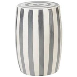 Rander Ceramic stool, D32 x H46cm, charcoal/white