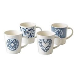 Ellen DeGeneres - Blue Love Set of 4 mugs, 0.5 litre