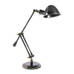 Concorde Desk lamp, H67 x W70 x L19cm, polished brass