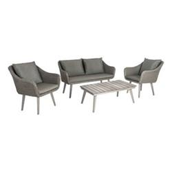 Old England Woven lounge set, grey