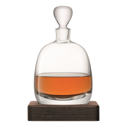Whisky Islay decanter with walnut base, 1 litre, clear