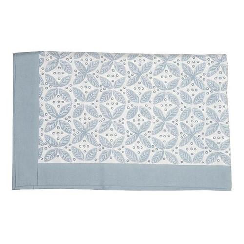 Berry Tablecloth, 150 x 250cm, Blue Cotton