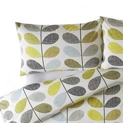 Scribble Stem Pair of standard pillowcases, 50 x 75cm, duckegg seagrass